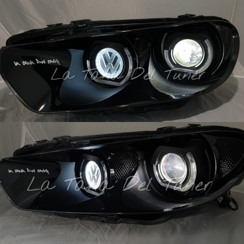 vw-scirocco-nero-doppio-led-angel-eyes-bad-look-logo-vw-retroilluminato
