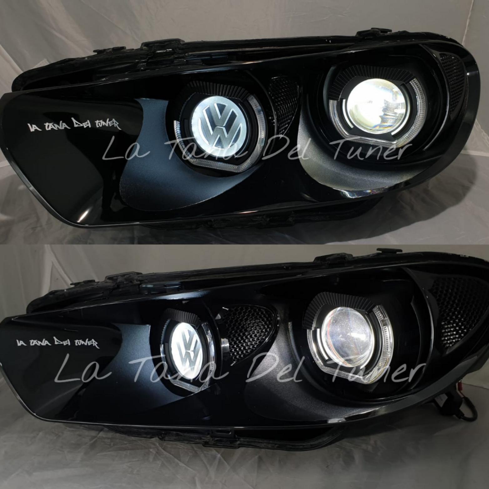 vw-scirocco-nero-doppio-led-angel-eyes-bad-look-logo-vw-retroilluminato